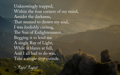 New Poem by Rajivji – Step Into the Light